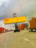 Trasporti in container — Foto Stock