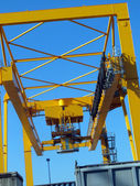Crane at port — Stock Photo