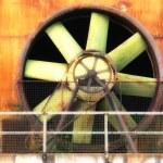Big industrial fan in a factory — Stock Photo #4586215