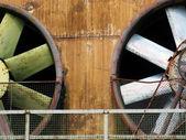 Big industrial fan in a factory — Stock Photo