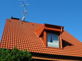 Taškové střechy — Stock fotografie