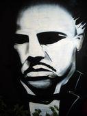 Don Corleone graffiti — Stock Photo
