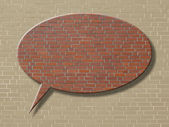 Brick creativ background — Stock Photo