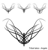 Tatoo - Angels — Vector de stock