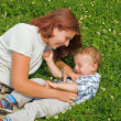 Mother and son in park — Stock Photo #4289622