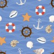 Marine seamless pattern. Vector — Stock Vector