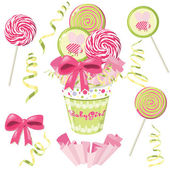 Lollipop bouquet. Vector — Stock Vector