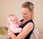 Mother with 3 month old baby — Stock Photo