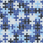 Puzzle camouflage seamless pattern — Stock Vector