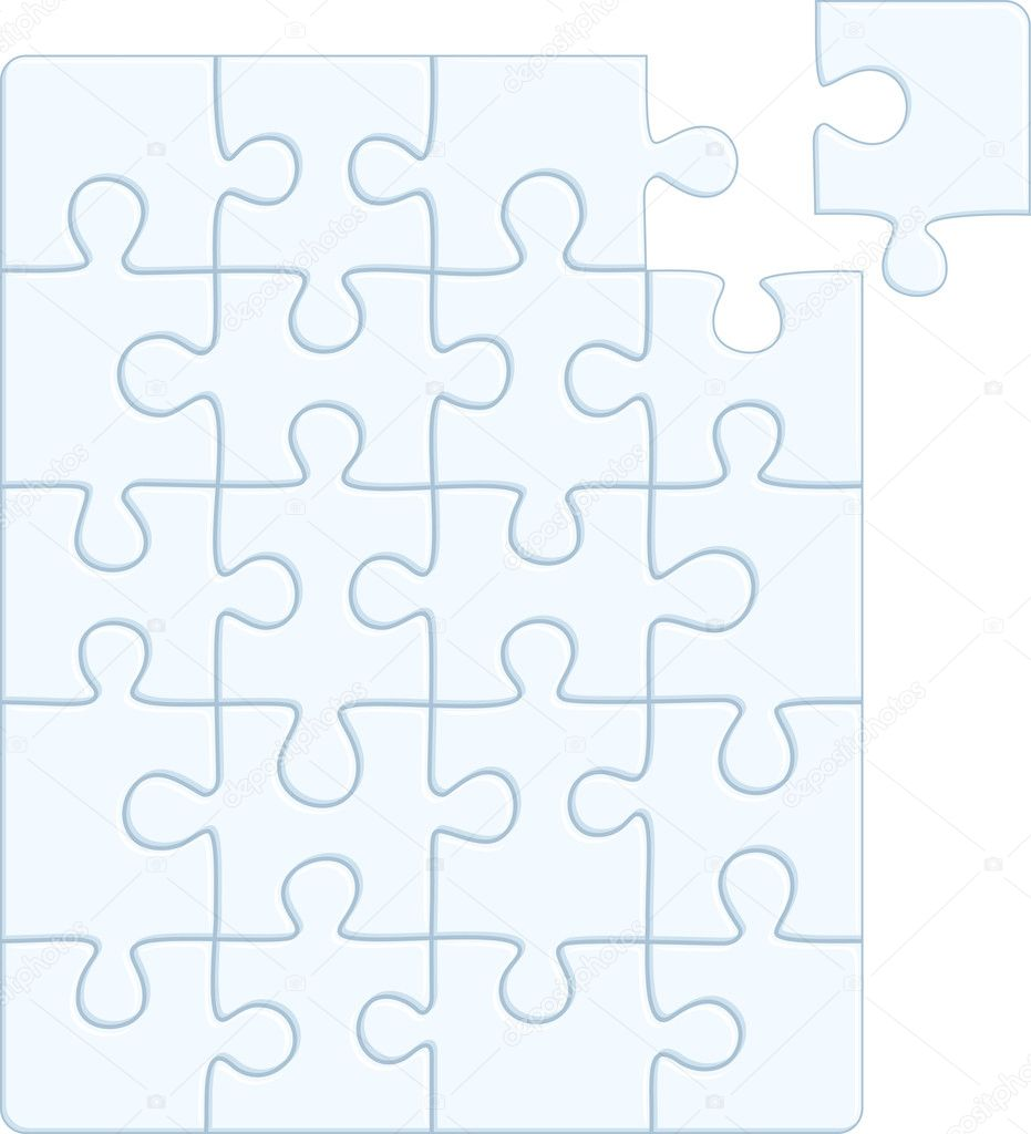 Puzzle pattern (removable pieces). Vector illustration  Stock Vector #5106727