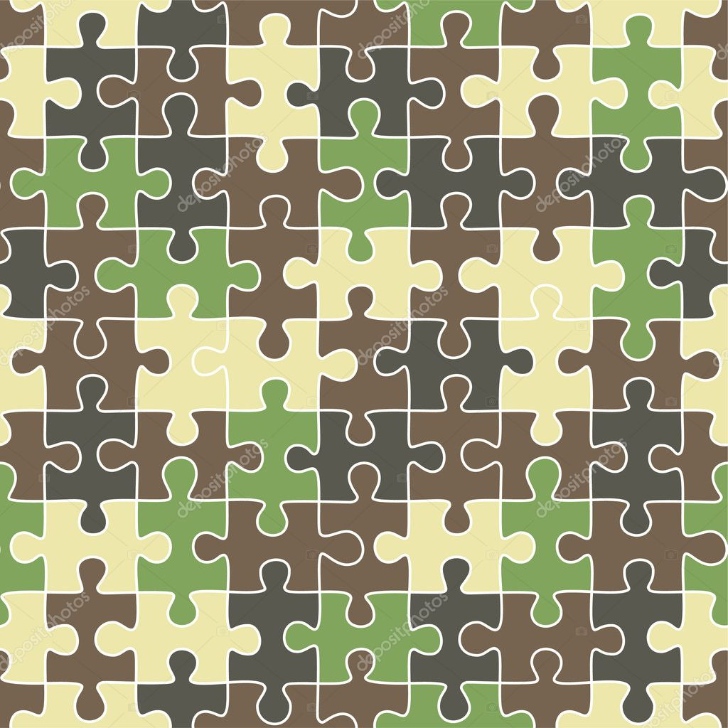 Puzzle camouflage seamless pattern — Stock Vector © khvost ...