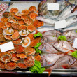 Fresh seafoods with price tag — Stock Photo #4290777