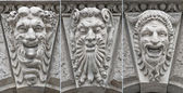 Theatre faces low relief with emotions — Stock Photo