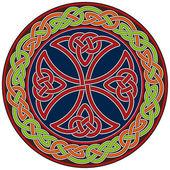 Celtic cross design element — Stock Vector