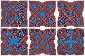 Conjunto de elementos de diseño celta — Vector de stock