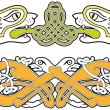Set of celtic animals design elements - Stock Vector