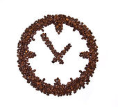 Coffee beans conventionalized to clock — Stock Photo