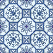 Seamless ornamental oriental pattern vector background — Vettoriale Stock