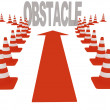 Stock Photo: Overcoming obstacles