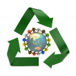 Recycling symbol — Stockfoto
