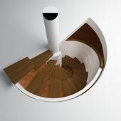 Schody okrągłe — Zdjęcie stockowe