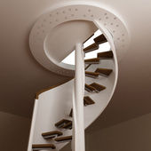 Round stair in room — Foto Stock