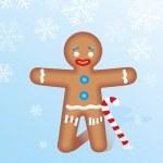 Vector illustration of gingerbread man — Stock Vector