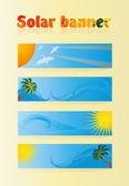 Banner solar — Vector de stock