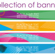 Bright collection of banners - Stock Vector