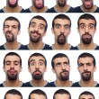 Youg Man Collection of Expressions on White Background — Stock Photo #4076814