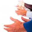 Hands Clapping on White Background — Stock Photo