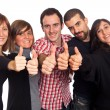 Happy Young Adult with Thumbs Up — Stock Photo #4519520
