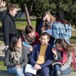College Students Studying Together at Park — Stock Photo #4583059