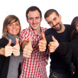 Happy Young Adult with Thumbs Up — Stock Photo