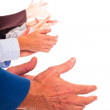 Stock Photo: Hands Clapping on White Background