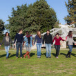 Group of Young College Students at Park — Stock Photo