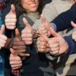 Stock Photo: Multiracial Thumbs Up