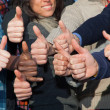 Multiracial Thumbs Up — Stock Photo #4634483