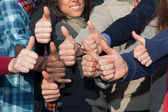 Multiracial Thumbs Up — Stock Photo