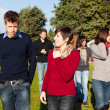 College Students Walking and Talking at Park — Stock Photo #4663193
