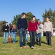 College Students Walking and Talking at Park — Stock Photo #4663201