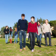 College Students Walking and Talking at Park — Stock Photo #4663204