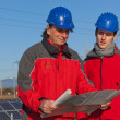 Engineers at Work In a Solar Power Station — Stock Photo #4750673