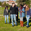 College Students Walking and Talking at Park — Stock Photo #4933234