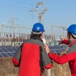 Engineers at Work In a Solar Power Station — Stock Photo #4940851