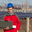 Royalty-Free Stock Photo: Engineer at Work In a Solar Power Station
