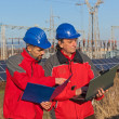 Engineers at Work In a Solar Power Station — Stock Photo #5000426