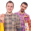 Young Homosexual Couple with Shopping Bags — Stock Photo #5067841