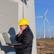 Technician Engineer in Wind Turbine Power Generator Station — Stock Photo #5100012