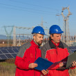 Stock Photo: Engineers at Work In Solar Power Station